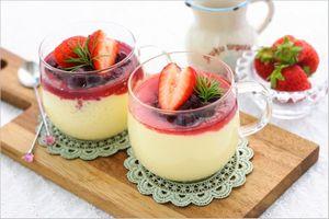 フルーツ酢のやわらかプリン