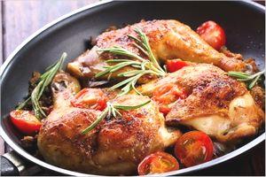 鶏もも肉のフルーツソテー