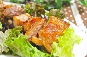 豚肉のブルーベリー風味照り焼き