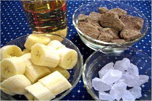バナナ酢の材料